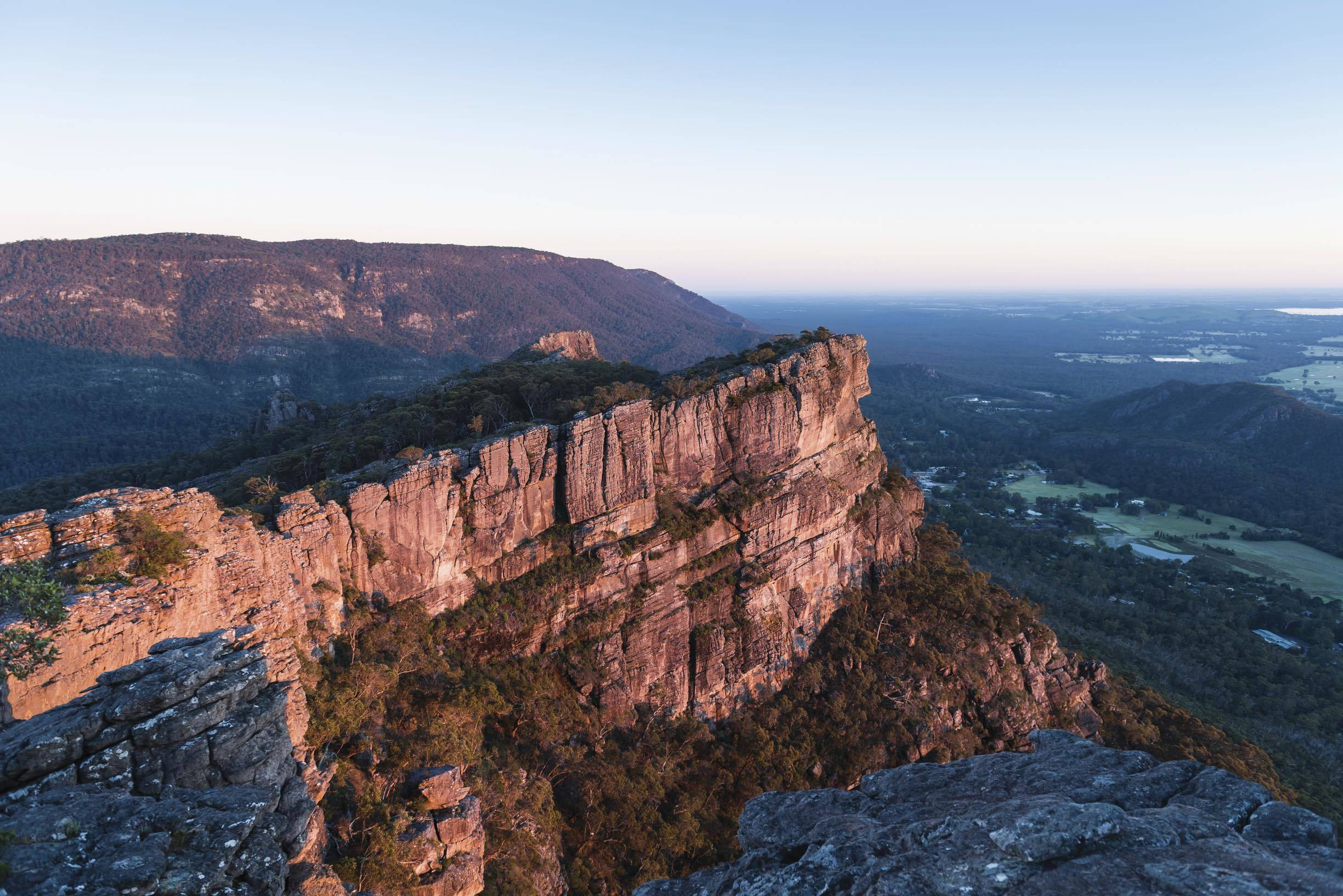 What can you see at the Grampians?
